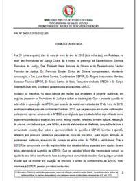 Resultado das audiências dos dias 17 e 24 de maio entre ministério público, SEDUC e Sindicato APEOC sobre calendário escolar 2010