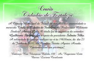 Professor Anízio Melo recebe título de cidadão de Fortaleza