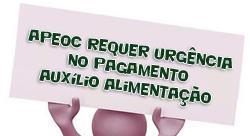 Sindicato APEOC requer URGÊNCIA no pagamento Auxílio alimentação