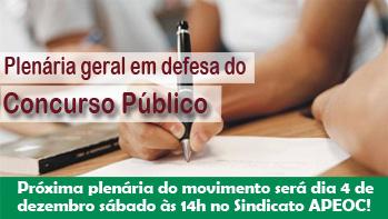 Plenária geral em defesa do Concurso Público