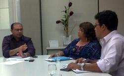 Audiência do Sindicato APEOC com o secretário executivo da SEDUC Idilvan Alencar em 28/01