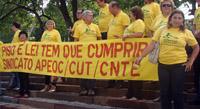 Sindicato APEOC cobra compromisso do governador Cid Gomes