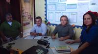 Sindicato-APEOC reúne-se em audiência com secretária de educação de Paraipaba