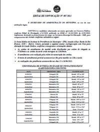 Sindicato APEOC arranca convocação professores município
