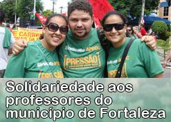 Nota do Sindicato-APEOC em solidariedade aos professores do município de Fortaleza
