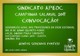 Grande Assembleia Geral dos Professores no Ginásio Paulo Sarasate – Sua Participação é Fundamental!