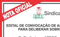 Edital de convocação de Assembleia Geral Extraordinária para deliberar sobre a Capanha Salarial 2011