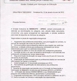 Audiência Sindicato APEOC e SEDUC