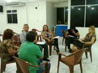 A Direção do Sindicato-APEOC discute modelo de Gestão Escolar.