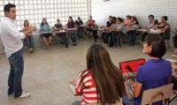 Sindicato visita escolas em Fortaleza
