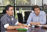 Secretário Estadual de Esporte Gony Arruda recebe Sindicato APEOC