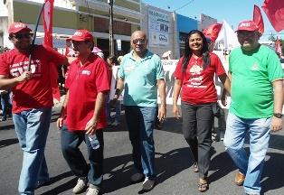 APEOC e CUT Ceará participam da mobilização dos Servidores Federais em greve no estado do Ceará