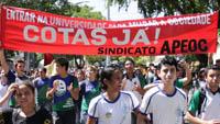 Coletivo de Raça e Etnia do sindicato APEOC participa de ato em defesa das cotas