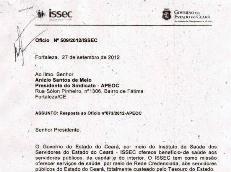 Superintendente do ISSEC responde ofício do Sindicato APEOC