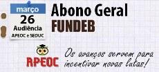 ABONO GERAL: Audiência hoje (26/3) na SEDUC