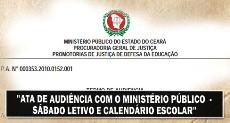 Sábado Letivo e Calendário Escolar: APEOC, Ministério Público e SEDUC