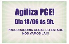 Nesta terça 09h vamos à PGE cobrar celeridade em nossas reivindicações!