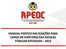 Manual prático das eleições para cargo de diretores das escolas públicas estaduais – 2013 – Atualizado!