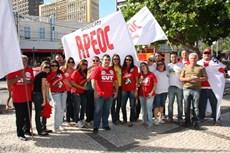 Funcionários do Sindicato APEOC no Dia Nacional de Lutas