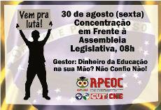 Nesta Sexta, Dia Nacional de Paralisação – Concentração na Assembleia Legislativa 08h