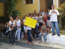 Sindicato APEOC em manifestação e audiência em Caridade