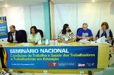 Seminário Nacional debate Condições de Trabalho e Saúde dos Trabalhadores/as em Educação