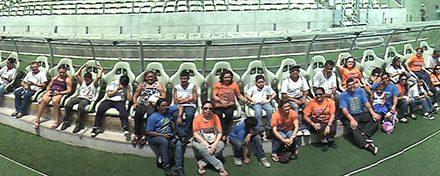 APEOC e Instituto dos Cegos: Visita a Arena Castelão