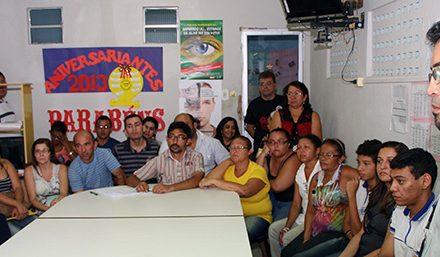 Presidente do Sindicato discute municipalização de escolas