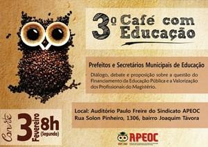 APEOC realiza segunda-feira 3° Café da Manhã com Educação