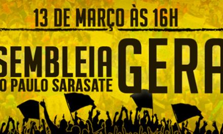 Hoje (13/03), às 16h, Assembleia Geral dos Profissionais da Educação no Ginásio Paulo Sarasate