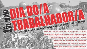 CUT mobiliza cerca de 11 mil trabalhadores em todo o Ceará no dia 1º de maio*