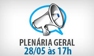 Ampliação Definitiva: Plenária Geral, Quarta (28/05)