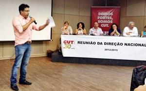 Anízio Melo faz pronunciamentos na Reunião da Direção Nacional da CUT