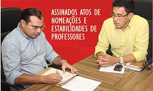 Governador assina atos de nomeação e estabilidade professores