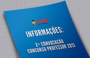 Informações: 2ª convocação concurso professor 2013