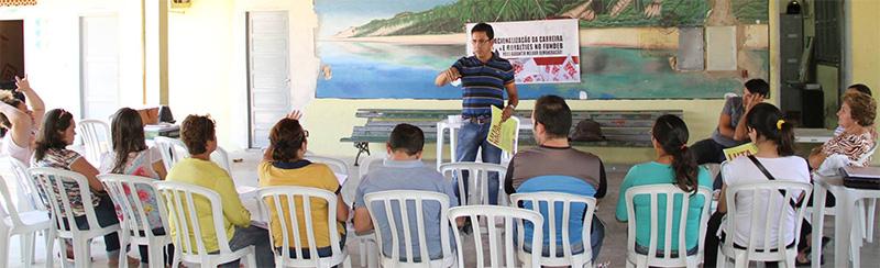 APEOC em Icapuí e Cariús pela Frente Ampla em Defesa do Pré-Sal e Valorização dos Profissionais da Educação