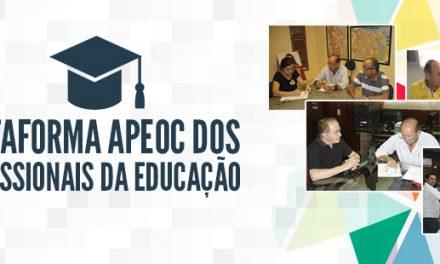 """""""Plataforma dos Trabalhadores em Educação"""" entregue aos candidatos a Governador"""