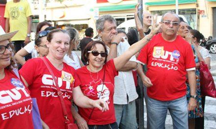 Ato Unificado da Educação mobilizou a categoria na Praça do Ferreira