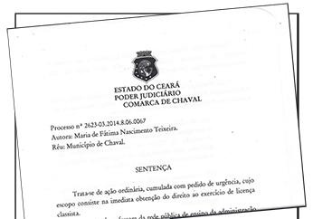Chaval: Justiça julga Ação em benefício da APEOC