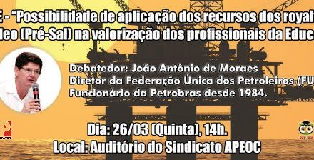 26/03 (quinta), 14h, Debate na APEOC!