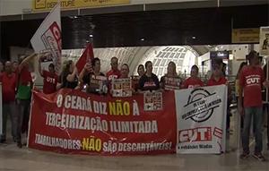 PL 4330 – Trabalhadores voltam a pressionar parlamentares no Aeroporto Pinto Martins