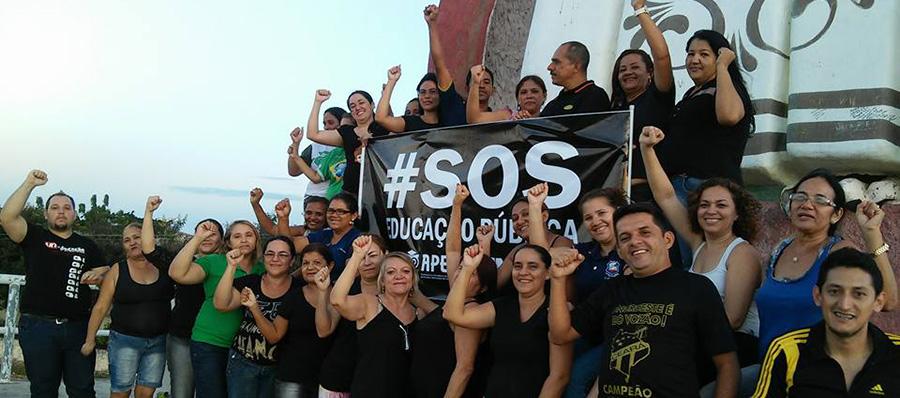 Chorozinho: Professores protagonizam luta nacional pela Valorização dos Profissionais da Educação!