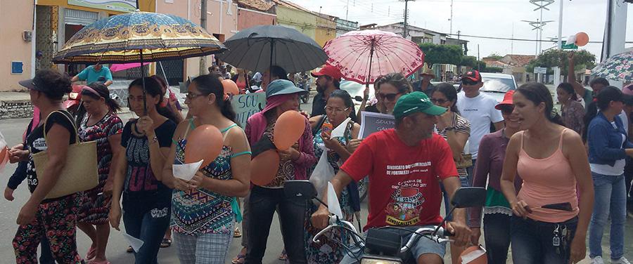 Palhano: Assembleia, passeata e ato público pelo pagamento de salários atrasados