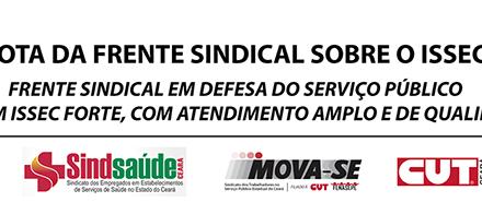 """NOTA sobre o ISSEC da """"Frente Sindical em Defesa do Serviço Público"""""""
