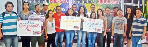 Reclassificados do concurso da Seduc se mobilizam no Sindicato APEOC
