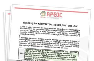Direção Executiva do Sindicato APEOC divulga resolução sobre cenário político e agenda de luta