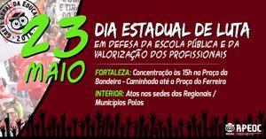 Sindicato APEOC realiza Dia Estadual de Luta em Defesa da Educação nesta segunda (23)