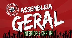 Convocação: Assembleia Geral nesta quarta (04) no Ginásio da Parangaba