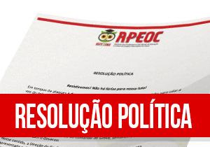 Direção Executiva divulga Resolução Política e garante Assembleia na próxima semana