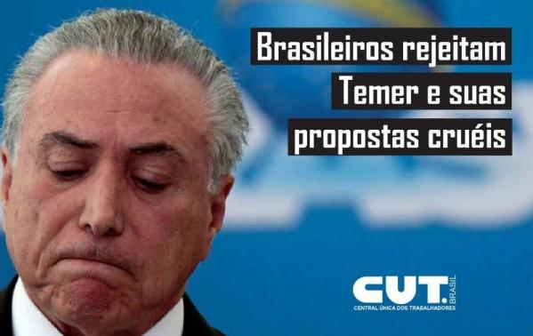 PEC 241 e Reforma da Previdência são rejeitadas por 80% dos brasileiros, constata pesquisa CUT/Vox Populi